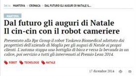 """BPRGroup – """"Dal futuro gli auguri di Natale"""" – Gazzetta di Mantova 17/12/2014"""