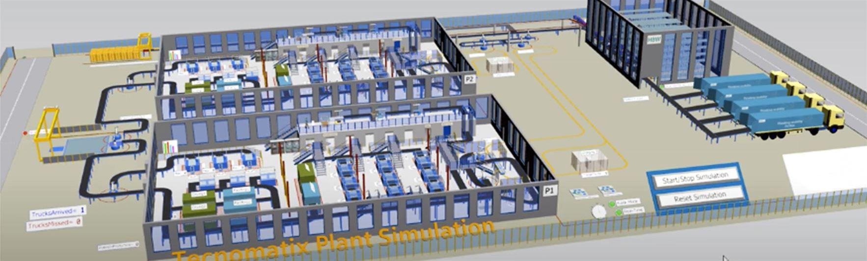 Simulazione 4.0 per il re-layout di fabbrica e l'ottimizzazione dei flussi