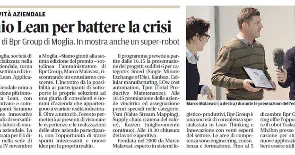 Articolo Gazzetta Premio Lean 2014